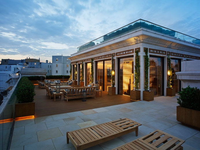 Garden roof terrace and decking design Corinthia project