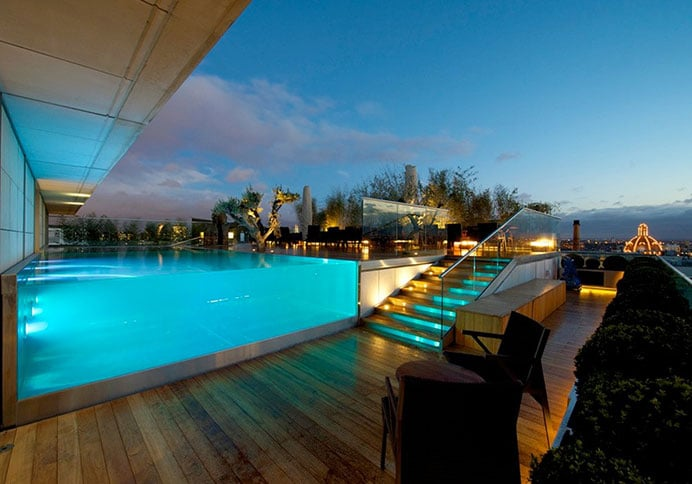 Roof terrace with swimming pool at Knightsbridge project