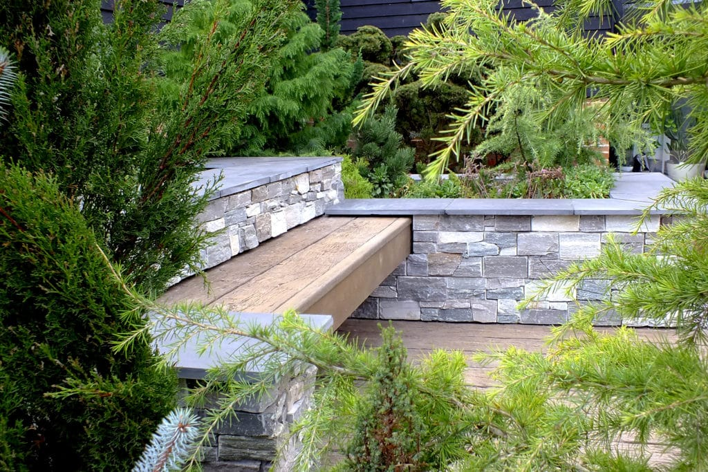 Composite wood decking used in a garden in Aston Clinton