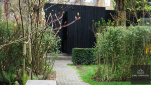 Charred Timber garden rooms in London