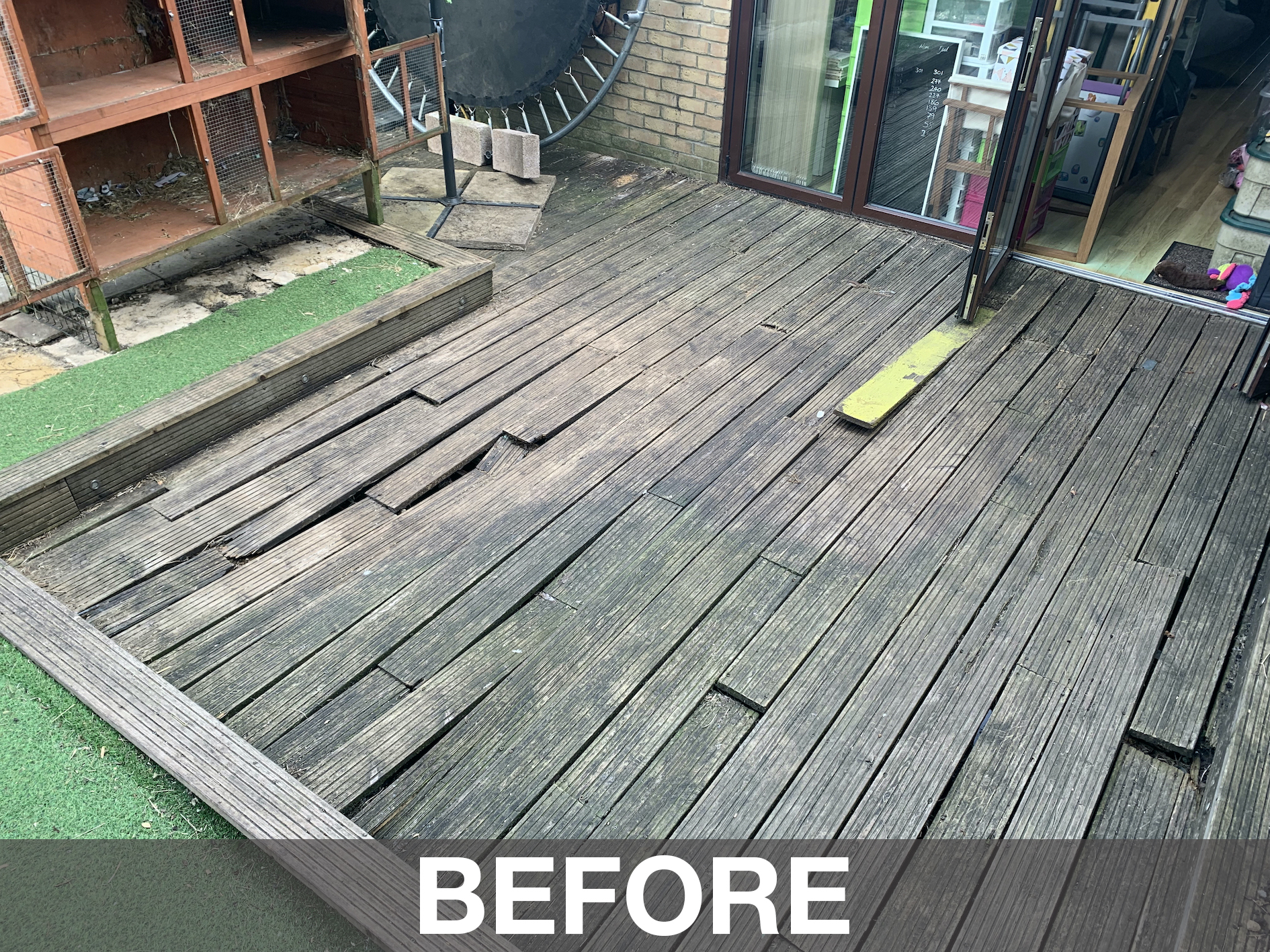 pine decking replacement harefield