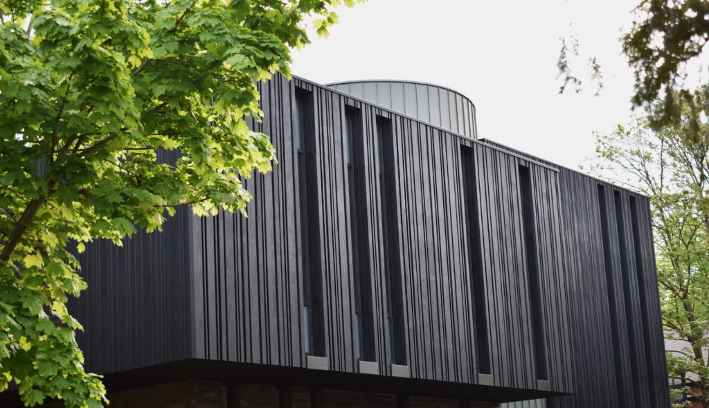 Creative, Charred Accoya Cladding