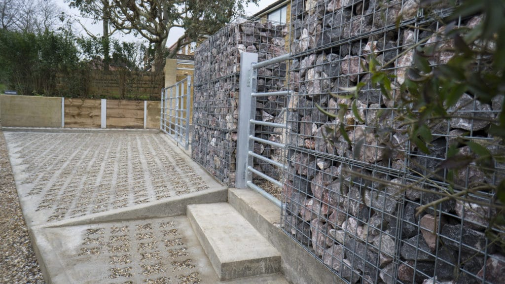 concrete gabion driveway beaconsfield