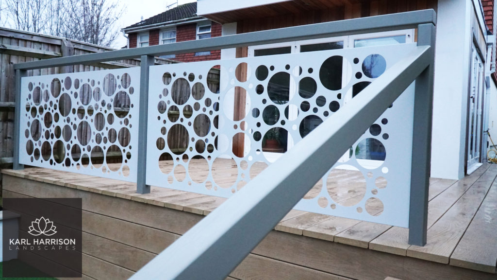 accoya balustrade painted grey