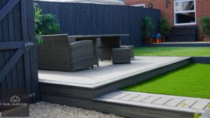 garden designed with trex decking